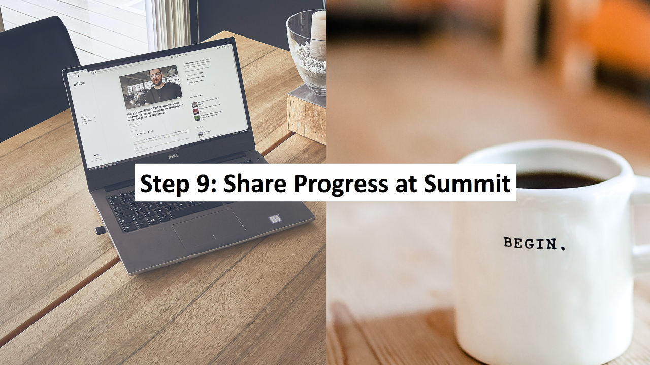 Step 9: Sponsor a 100% Community Summit
